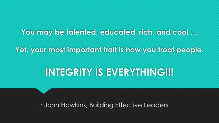 INTEGRITY IS EVERYTHING!!!!!!!!!!!  How does yours stack up?   http:// bit.ly/2rIHRtt  &nbsp;   #leadership #success #REAL <br>http://pic.twitter.com/grcAuqnSBf