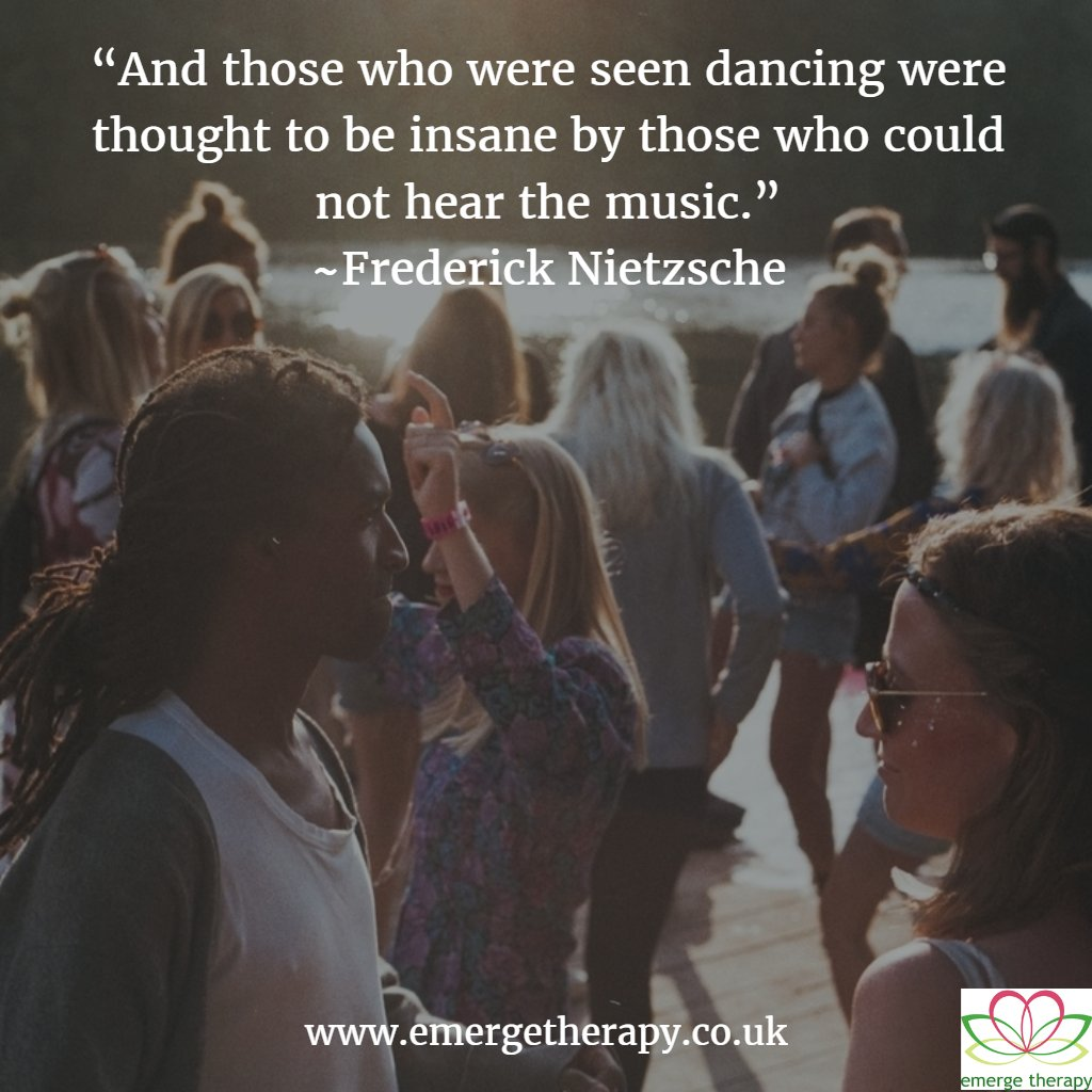 'And those who were seen dancing were thought to be insane by those wh...