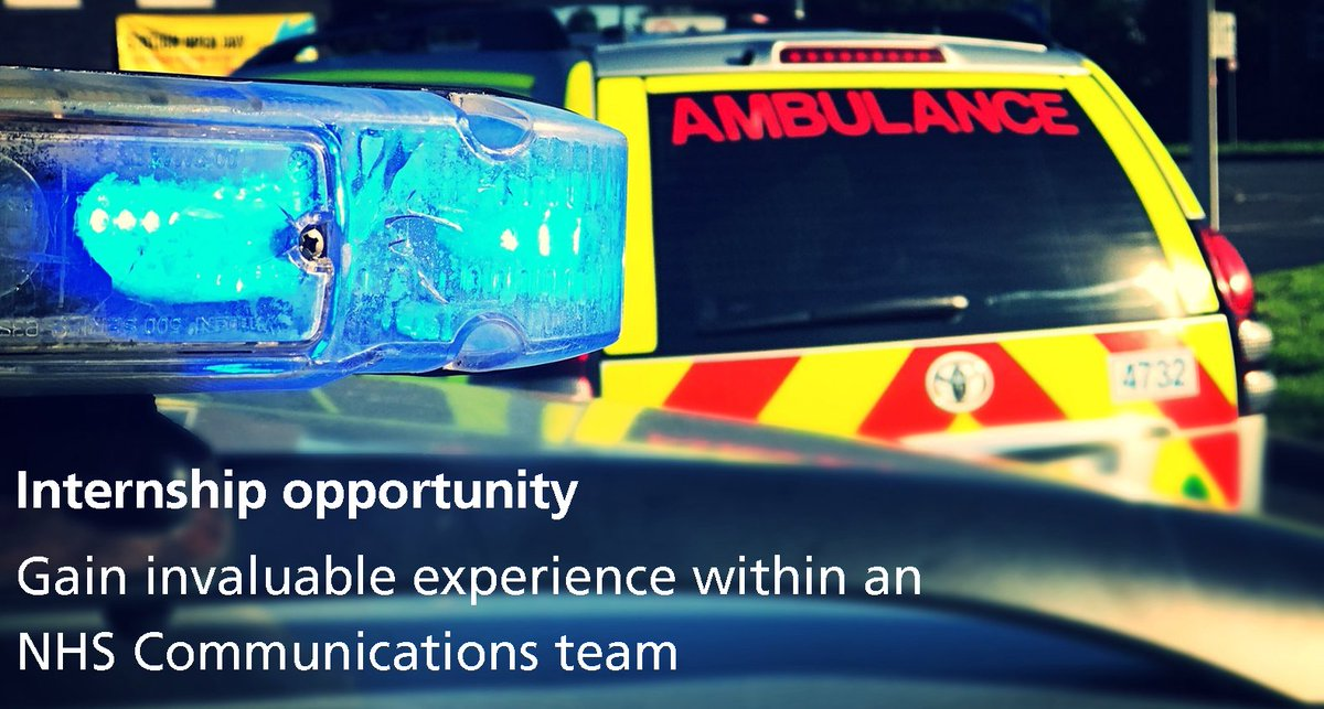 Amazing opportunity for someone considering a career in #PR #Communications  http://www. emas.nhs.uk/news/latest-ne ws/2017-news/exciting-internship-opportunity-in-fast-paced-nhs-blue-light-communications-team/ &nbsp; …  @NHScommsorg<br>http://pic.twitter.com/atdpgMbn5N