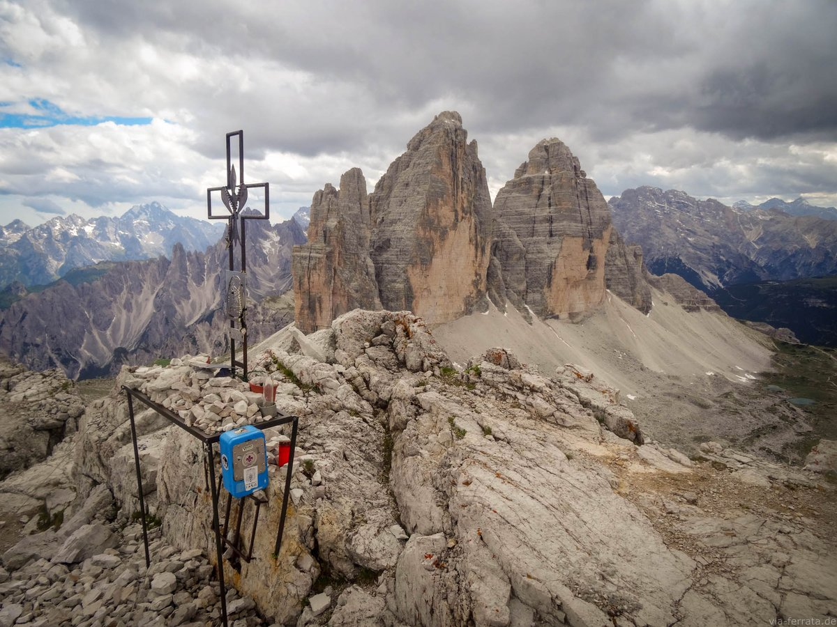 Klettersteig Drei Zinnen : Klettersteig zu den drei zinnen mit alpinfÜhrung programma