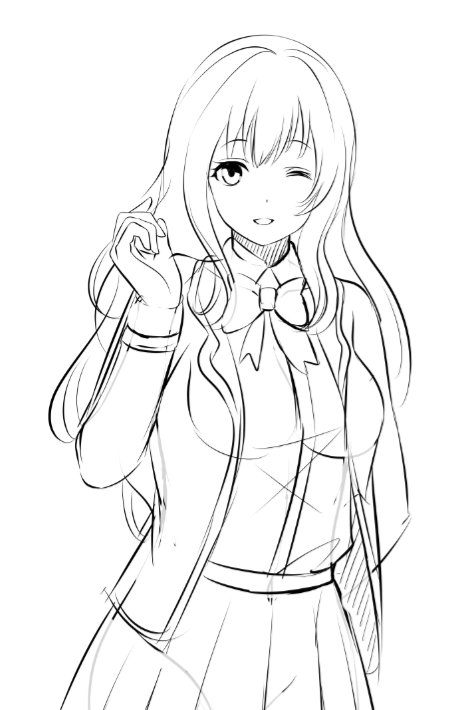Another WIP this is Yuu&#39;s childhood friend, and is one of the romance options #visualnovel #gamedev #dating<br>http://pic.twitter.com/LQUrzkmwZe