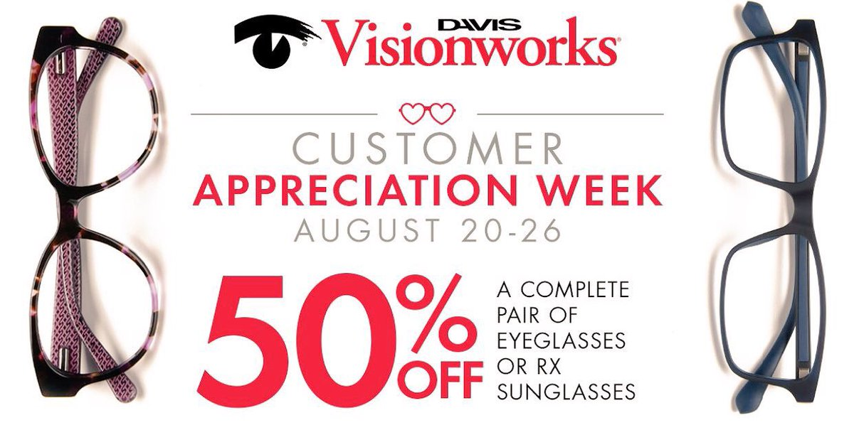 8dfbd640fc  SolarEclipse2017  CustomerAppreciation  Visionworks  Trending  50off   Deals  ThankuThankuVeryMuch  glassespic.twitter.com P9t4jNtnR2