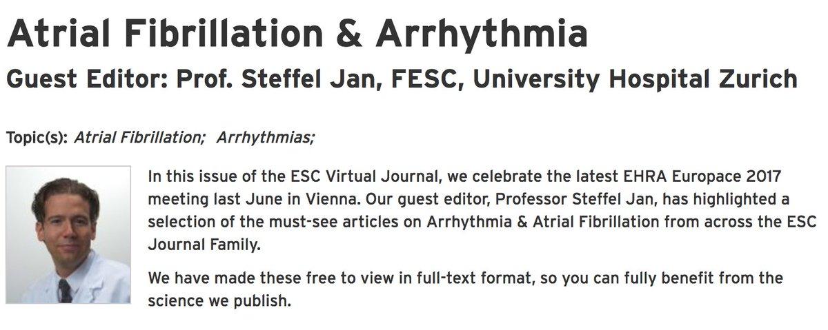 Read now the ESC Virtual Journal on #AtrialFibrillation &amp; #Arrhythmia  https:// goo.gl/nAtZtK  &nbsp;   @SAGENursing @escardio #openaccess <br>http://pic.twitter.com/jQoguND2db