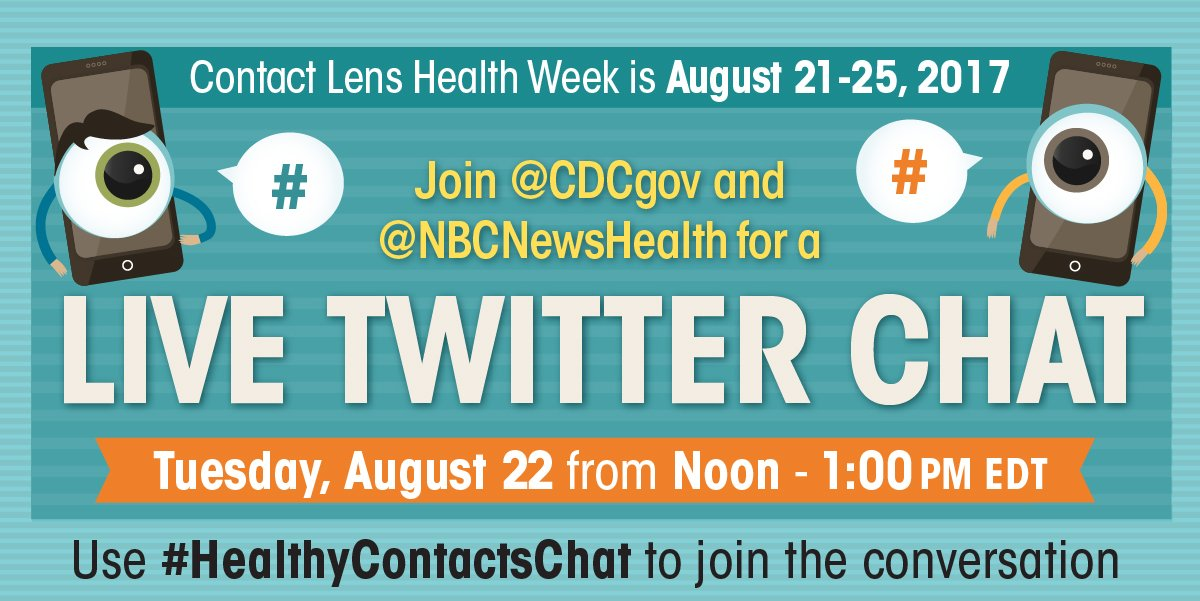 a4d8aae85d5 Join us    NBCNewsHealth for a  HealthyContactsChat on 8 22 to kick off Contact  Lens Health Week!pic.twitter.com DhHMKs25Xz