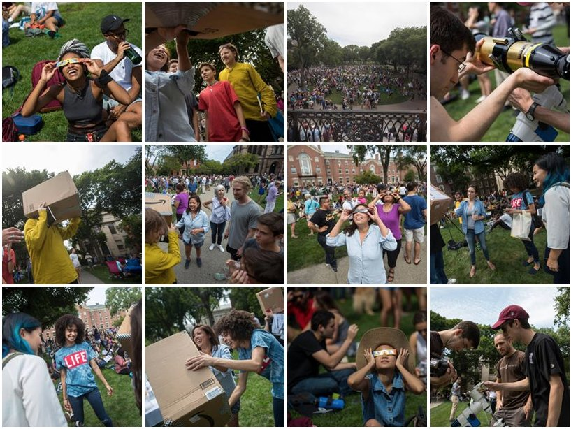 PHOTOS: #SolarEclipse2017 Viewing on the Main Green https://t.co/pppvLwu049 https://t.co/cnzyU021fc
