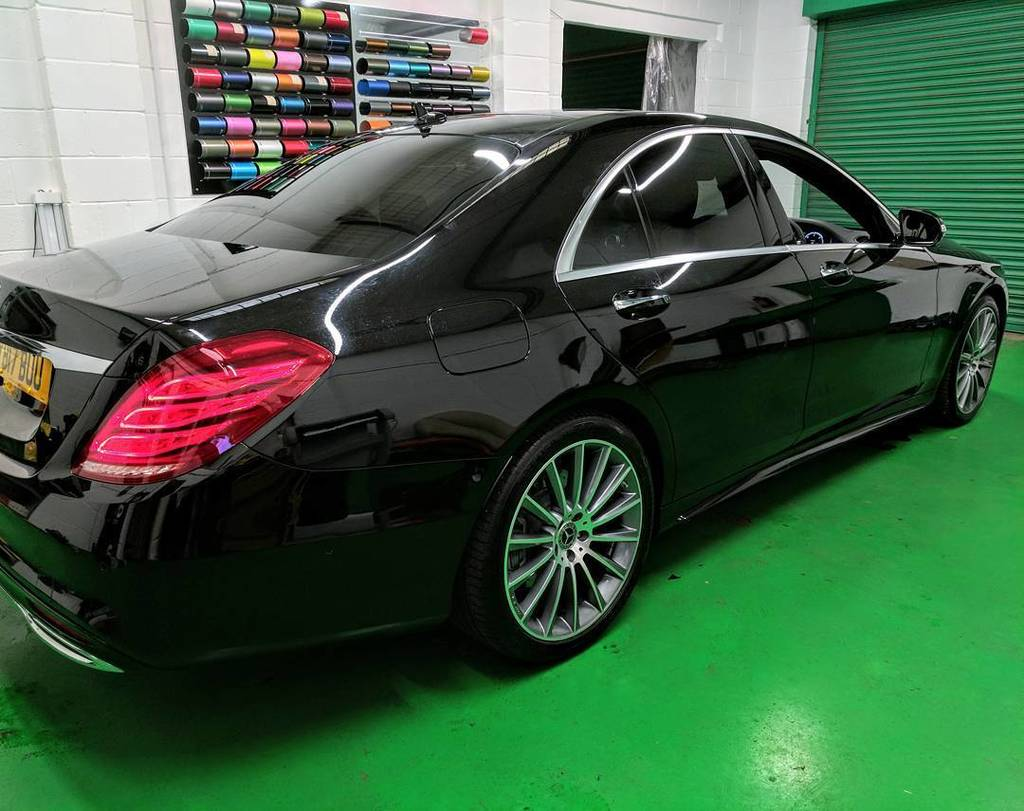 S350d on for Mercedes benz factory tint