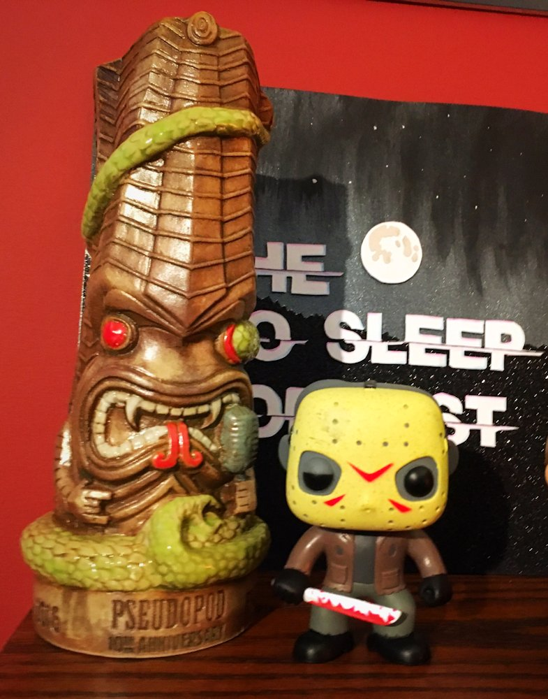 Proud to display our Pseudopod 10th Anniversary mug on our horror shelf at NoSleep headquarters. Cheers @Pseudopod_org!