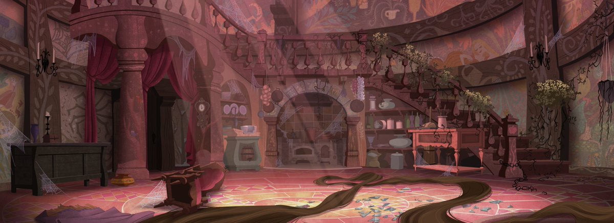 Laura Price On Twitter Was So Honored To Paint The Interior Of Rapunzel S Tower For This Week S Episode Of Tangledtheseries Disney