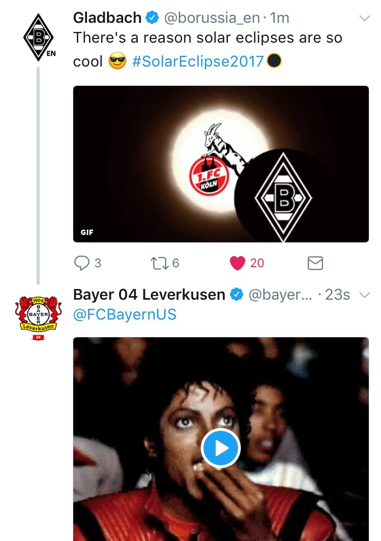 When the #Bundesliga comes together on Twitter, you know it&#39;s going to be ...   Also that Köln shade  <br>http://pic.twitter.com/HJGp2DR9rx