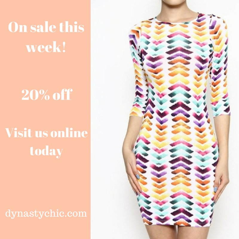 On sale this week, our Follow Me bodycon dress. Now $27.99  http:// dynastychic.com/followme  &nbsp;    #cybermonday #onlineboutique #ootd #eshop #styleoftheday <br>http://pic.twitter.com/gRY2hiTIkw