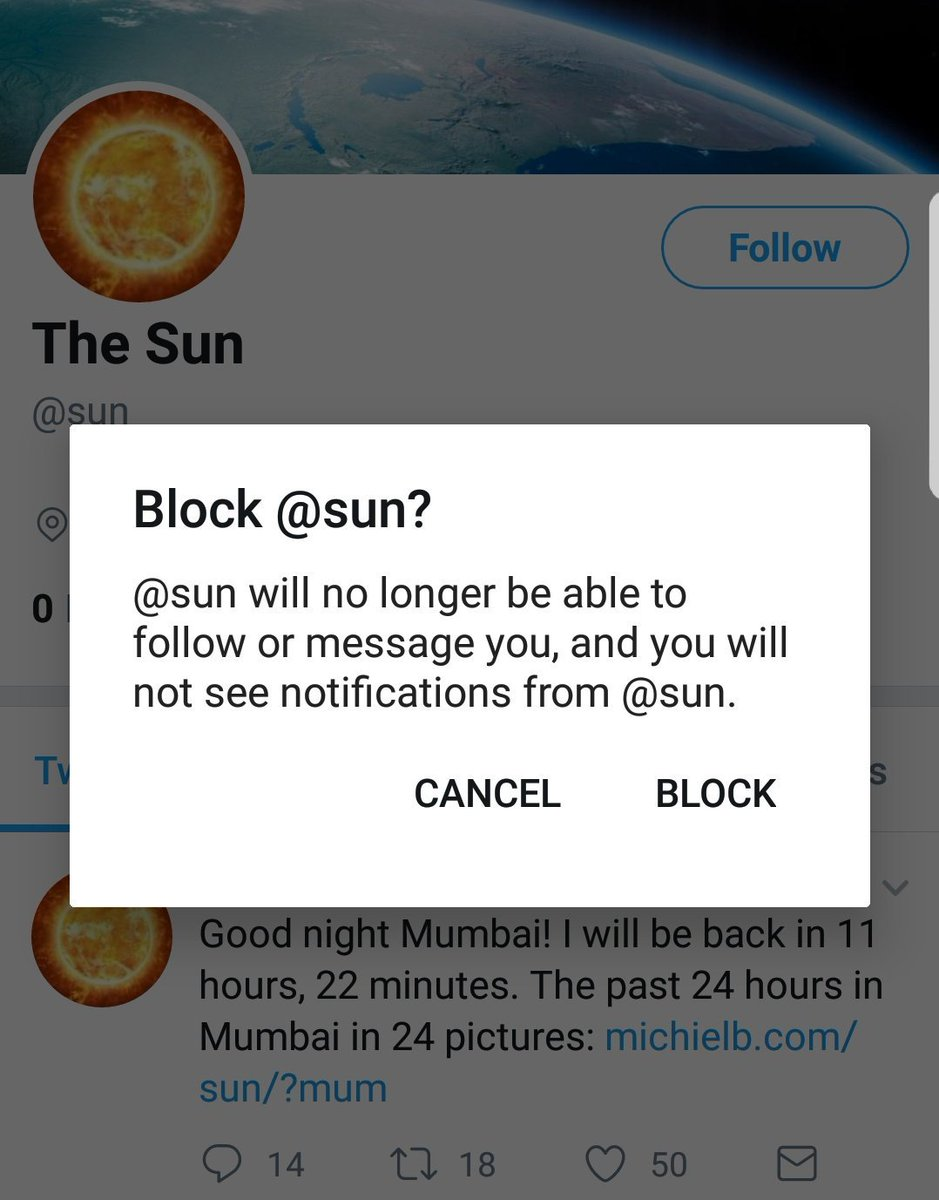 i will block the sun