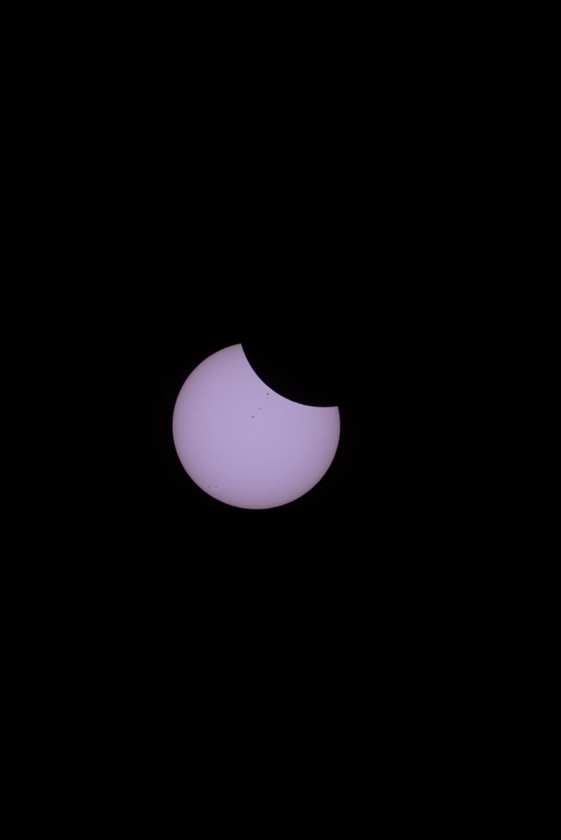 It's happening... #Eclipse2017 #SolarEclipse2017 #eclipse https://t.co/GkaAMZX5nY