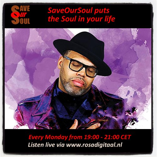 New edition of @saveoursoulnl coming up on @RosaDigitaal at 19:00 CET  Listen live  http:// tunein.com/radio/RosaDigi taal-s213501/ &nbsp; …  #soul #radio #goodmusic<br>http://pic.twitter.com/YOwoINkAu6