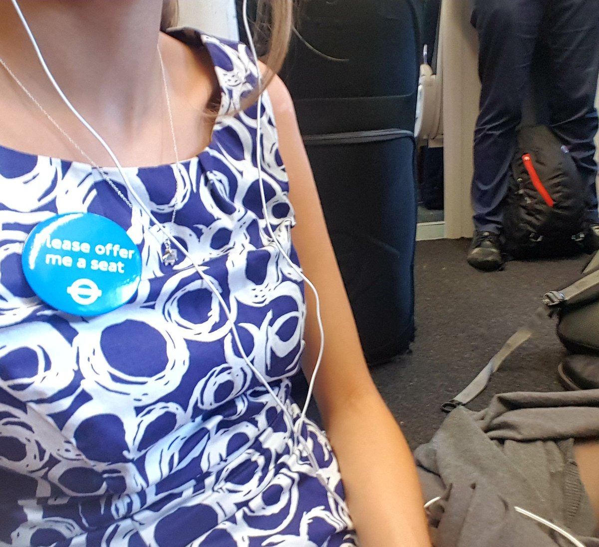 Sat on floor of packed train, people avoiding eye contact. Dignity and respect for disabled people is hard to come by. #EhlersDanlos #EDS <br>http://pic.twitter.com/0fZfXPVkhh