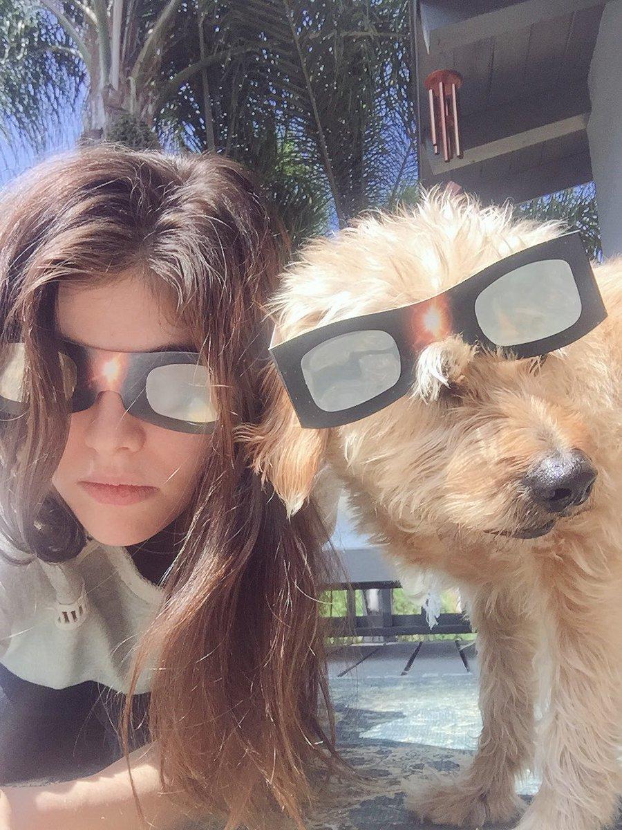 Alexandra Daddario twitter @AADaddario solareclipse