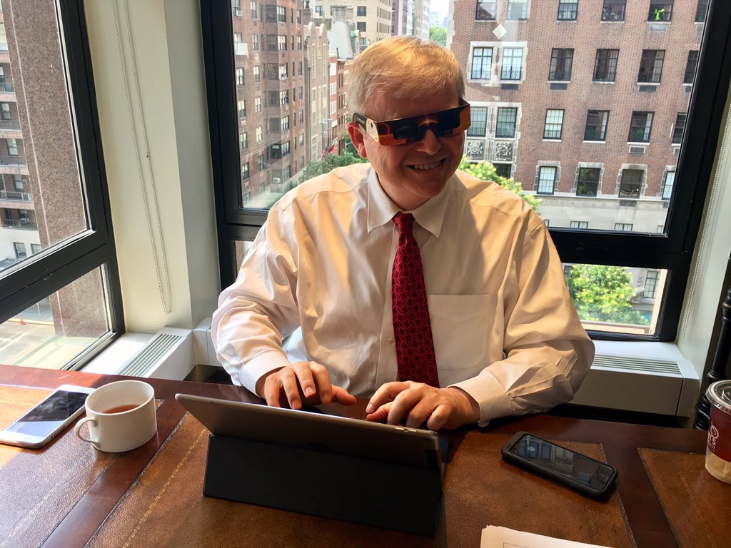Kevin Rudd On Twitter Getting Ready For The Total Solareclipse Here In New York