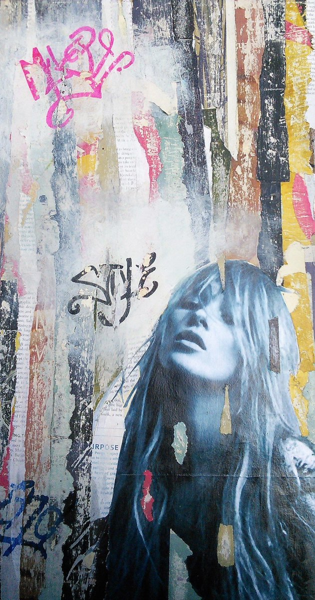 Down The Street - mixed media collage #art #graffiti #fashion #interiordesign #architects #decay #forsale #new #décor #KateMoss #interiors<br>http://pic.twitter.com/1QSO4usSQO