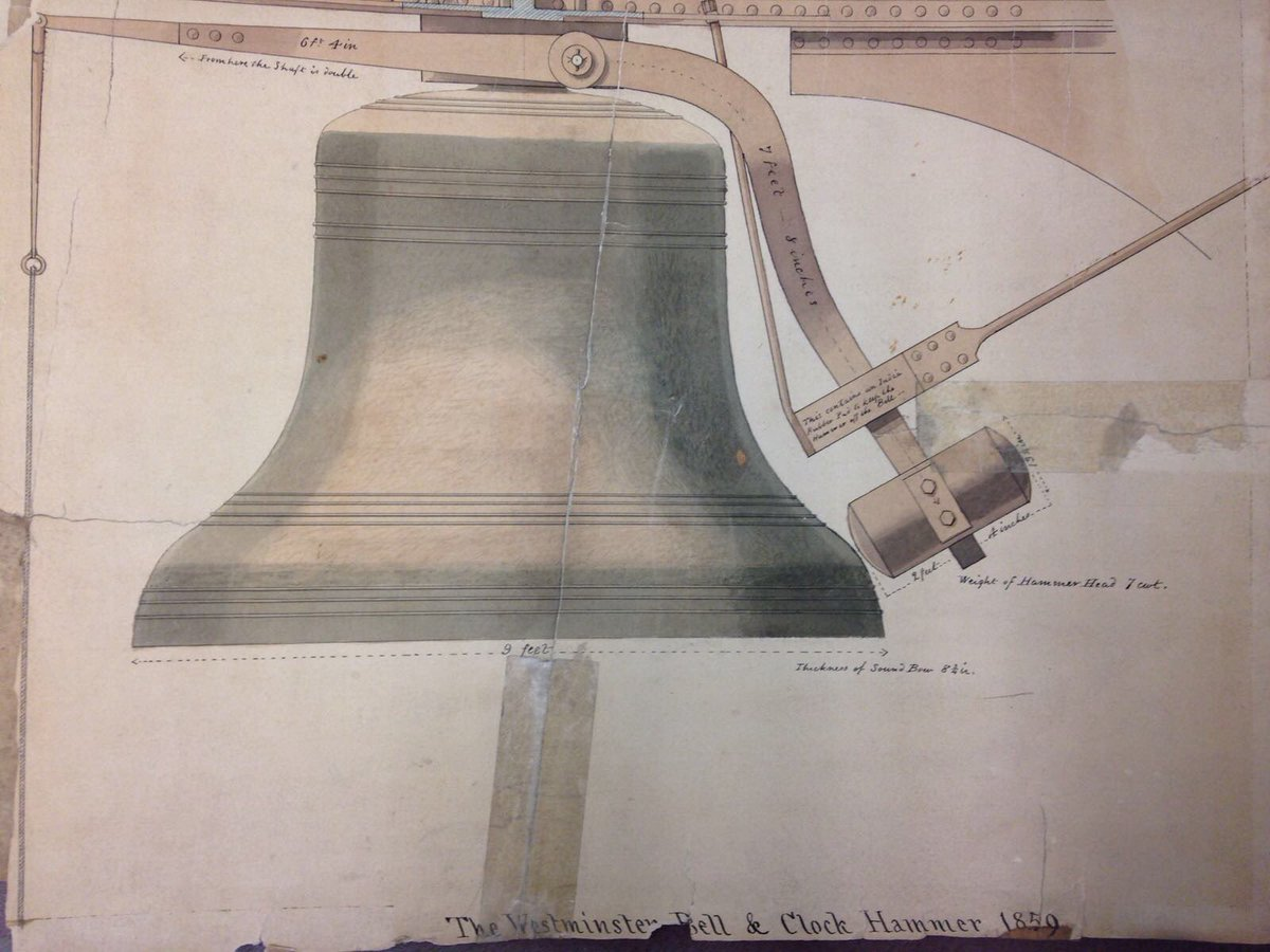 Wonderful drawing from @whitechapelbell #archives of #BigBen ... hear you in 4 years! #nomorebongs<br>http://pic.twitter.com/fh1w52Avcj