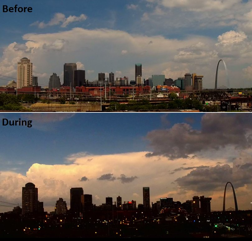 A beautiful look before & during #SolarEclipise2017 at downtown St. Louis. #KMOVEclipse https://t.co/633E7d1vsH