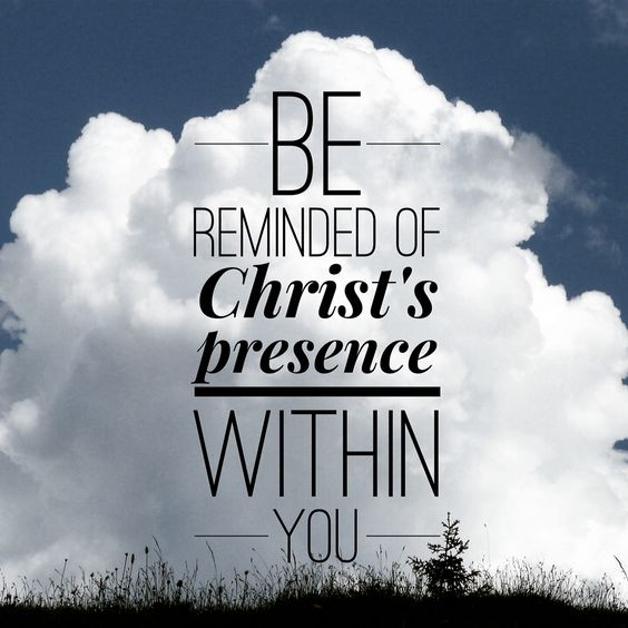 Christ is in you! Christ is with you! Christ's presence in always within you!  #Mark8 #TrustGod  #GodisGreater #Pray #ReadingWithJoost<br>http://pic.twitter.com/KHHsA4ZDEs