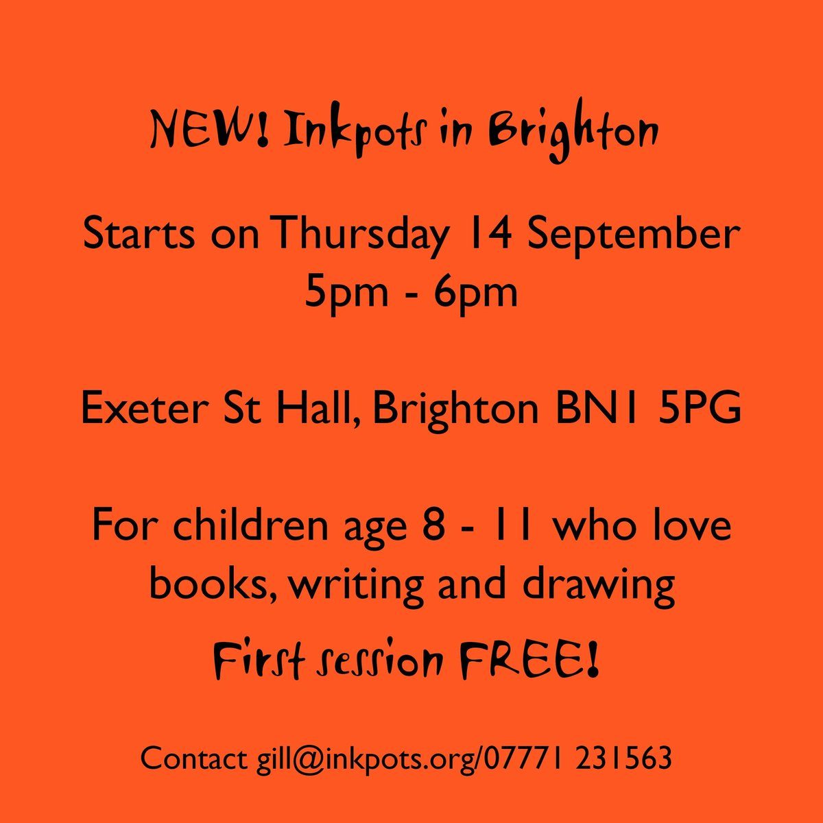 creative writing groups brighton