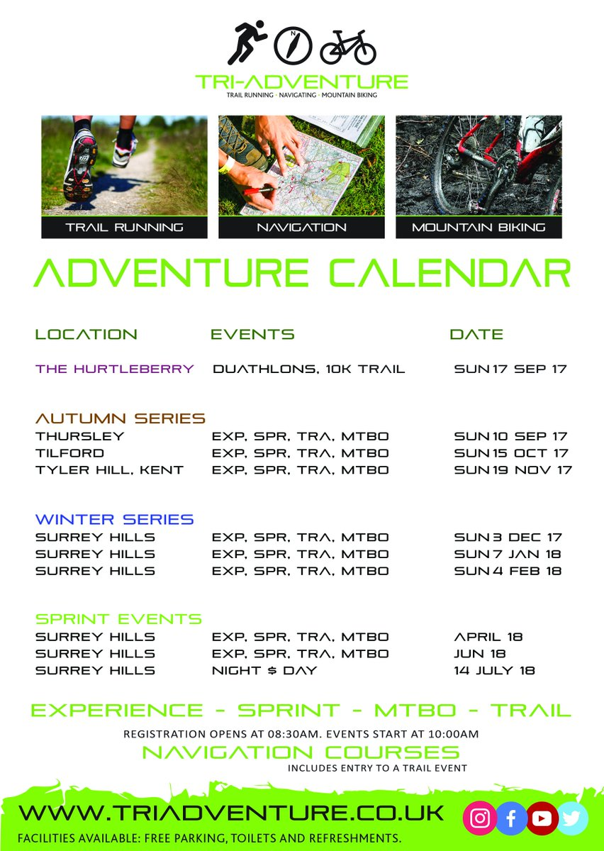 #Autumn #Winter DATES for 2017 .... #MTB #trailrunning #Duathlon #Navigation #Orienteering time to get organised for the rest of the year!<br>http://pic.twitter.com/JFyocuBE87
