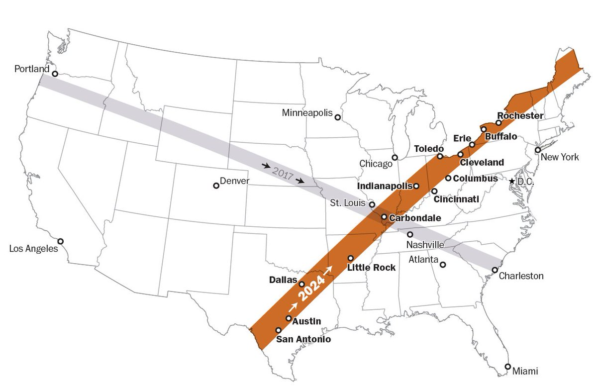 Miss today's eclipse? Here's which parts of the U.S. will see the next one, in 2024.