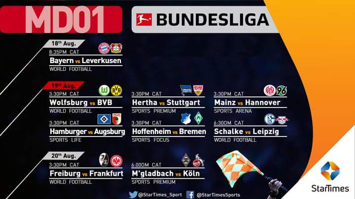 #BUNDESLIGA is back on StarTimes!  Catch the football action on StarTimes sports channels.  StarTimesSports #BundesligaOnStarTimes #Football<br>http://pic.twitter.com/wZKoMBqqNR