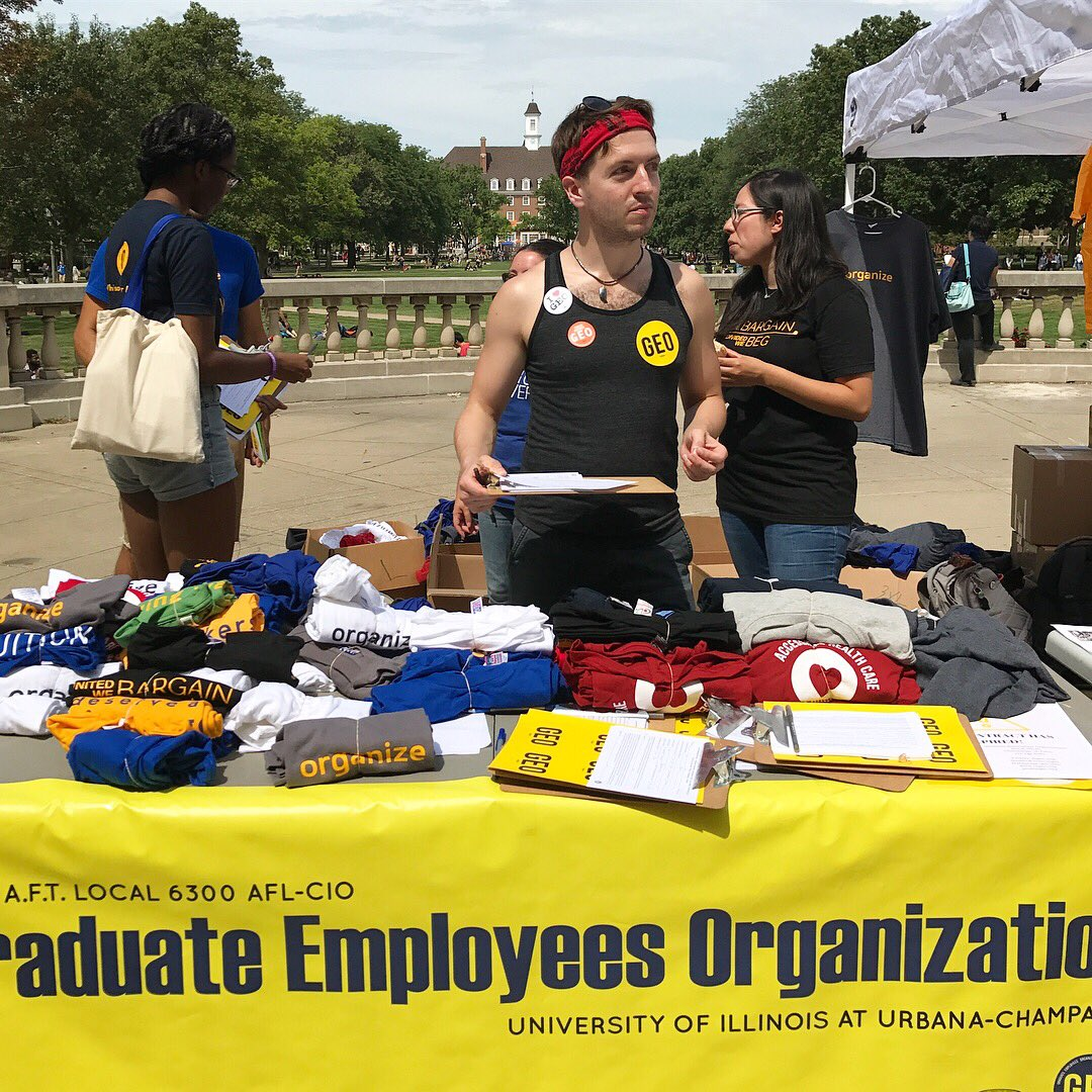 Organizing new members today at orientation for Teaching Assistants. Come see us tomorrow at Foellinger Auditorium #GradWorkers #GradUnion<br>http://pic.twitter.com/Oup69GRKGp &ndash; at Foellinger Auditorium