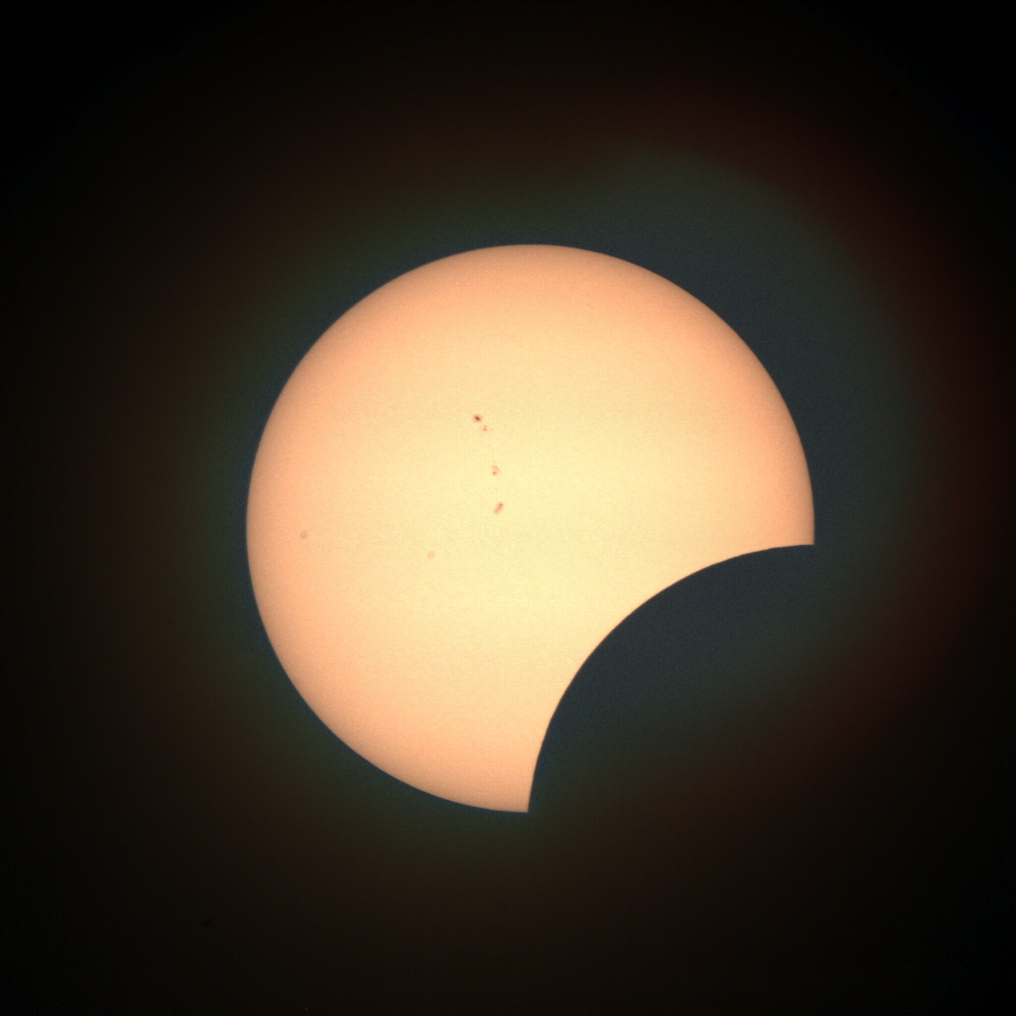 We'll continue udating current images of the Sun for the remainder of the #eclipse  (ends at 4:01pm in #Providence) https://t.co/qDVkYXs8d5 https://t.co/1oSRjYmW10