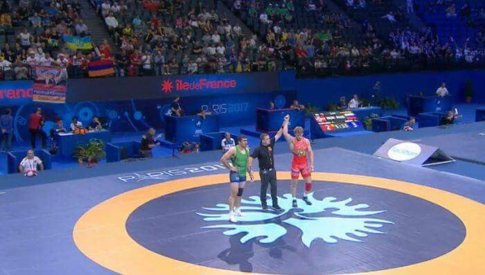 And here we go again: #Armenia&#39;s Arthur Aleksanyan wins his third gold of #Wrestling World Championships  https:// goo.gl/pBji6a  &nbsp;  <br>http://pic.twitter.com/srxss14SaC