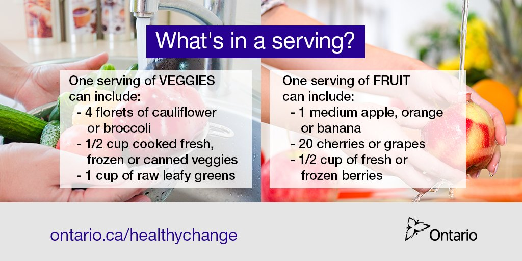 DYK? It is recommended that kids have 4-6 servings of #veggies &amp; #fruits a day. #HealthyKidsON #HKCC  http://www. ontario.ca/healthychange  &nbsp;  <br>http://pic.twitter.com/6HHDMx9CEa