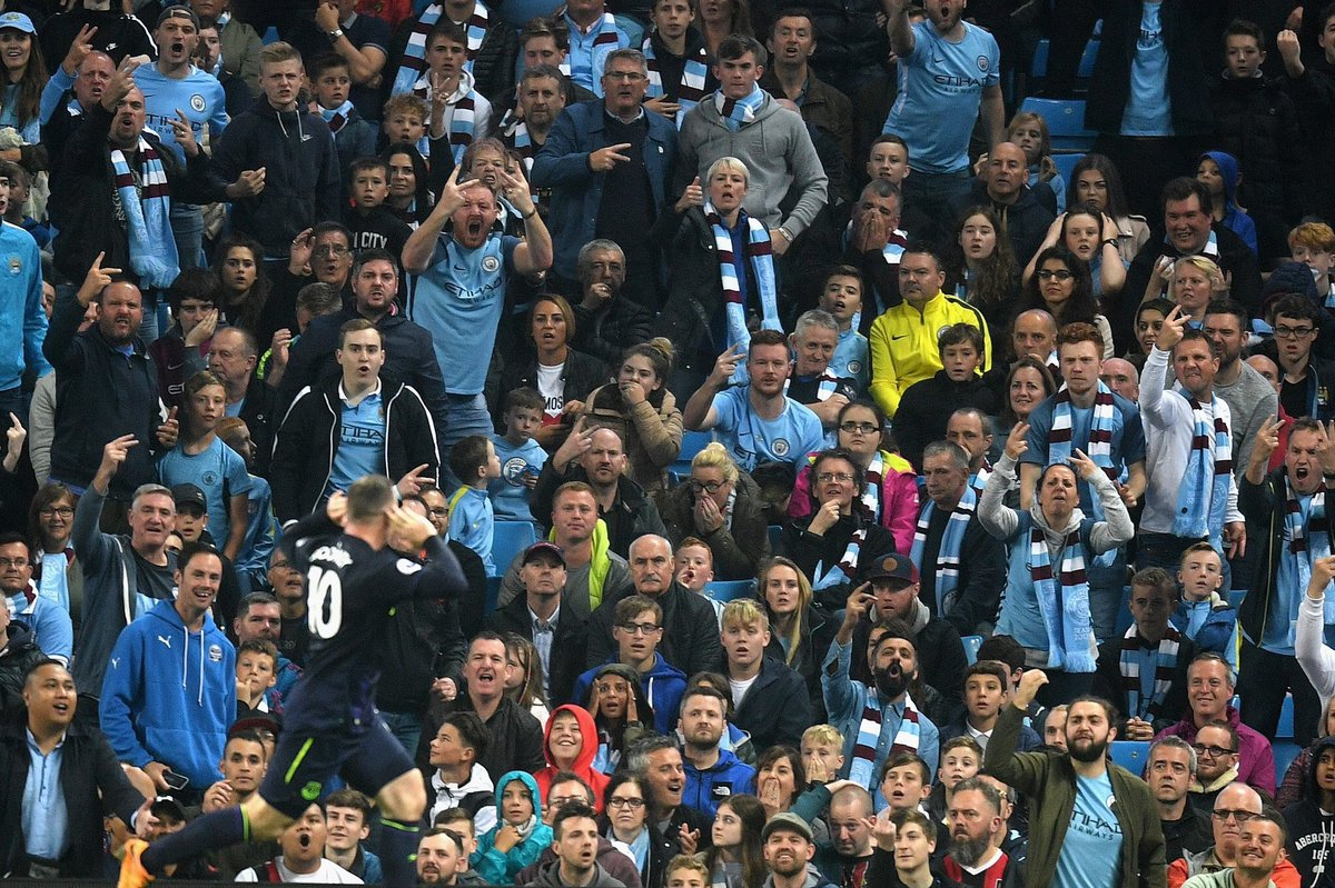 Look at the expressions on the City fans faces, the beautiful game...  #City <br>http://pic.twitter.com/pTe15hjkxt