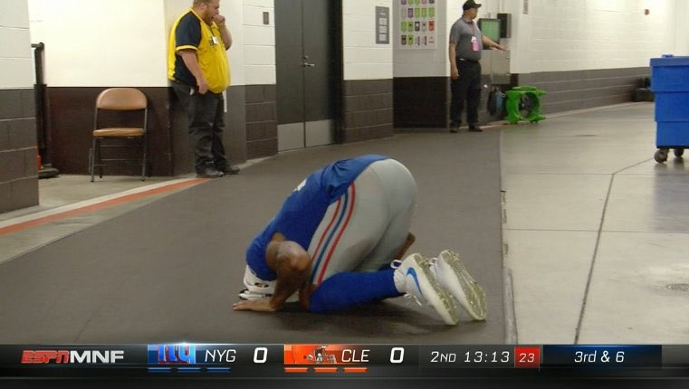 Odell Beckham Jr stared at the eclipse t...