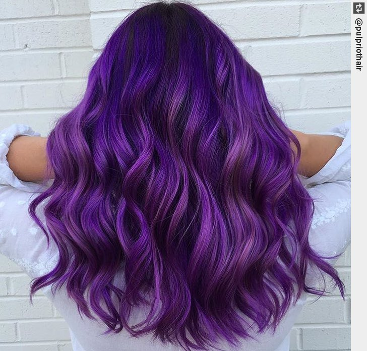 is the artist. Pulp Riot is the paint. #haircolor #hairpaint #hairstyle <br>http://pic.twitter.com/PiCVsmXAtA