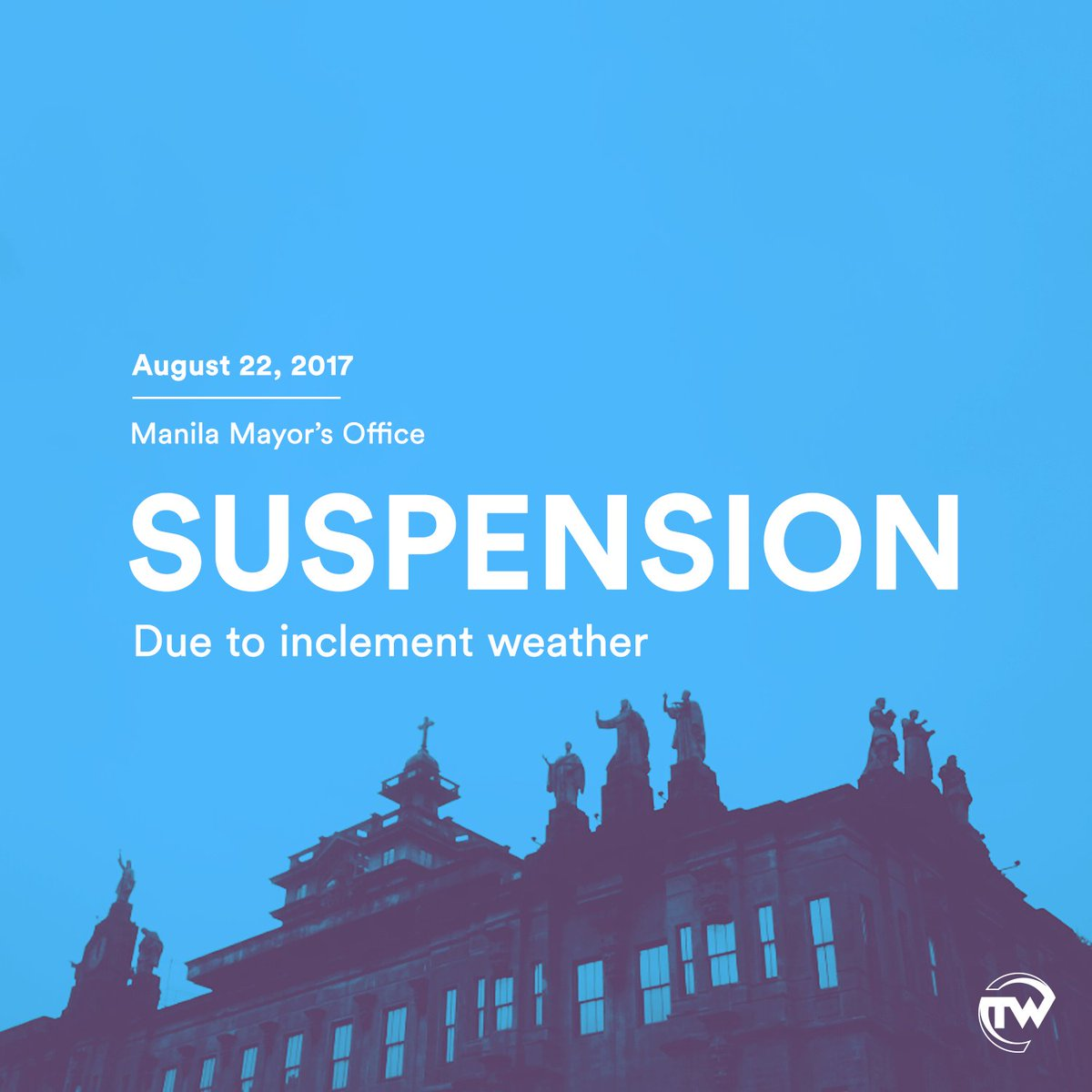 #WalangPasok Classes in ALL LEVELS are s...