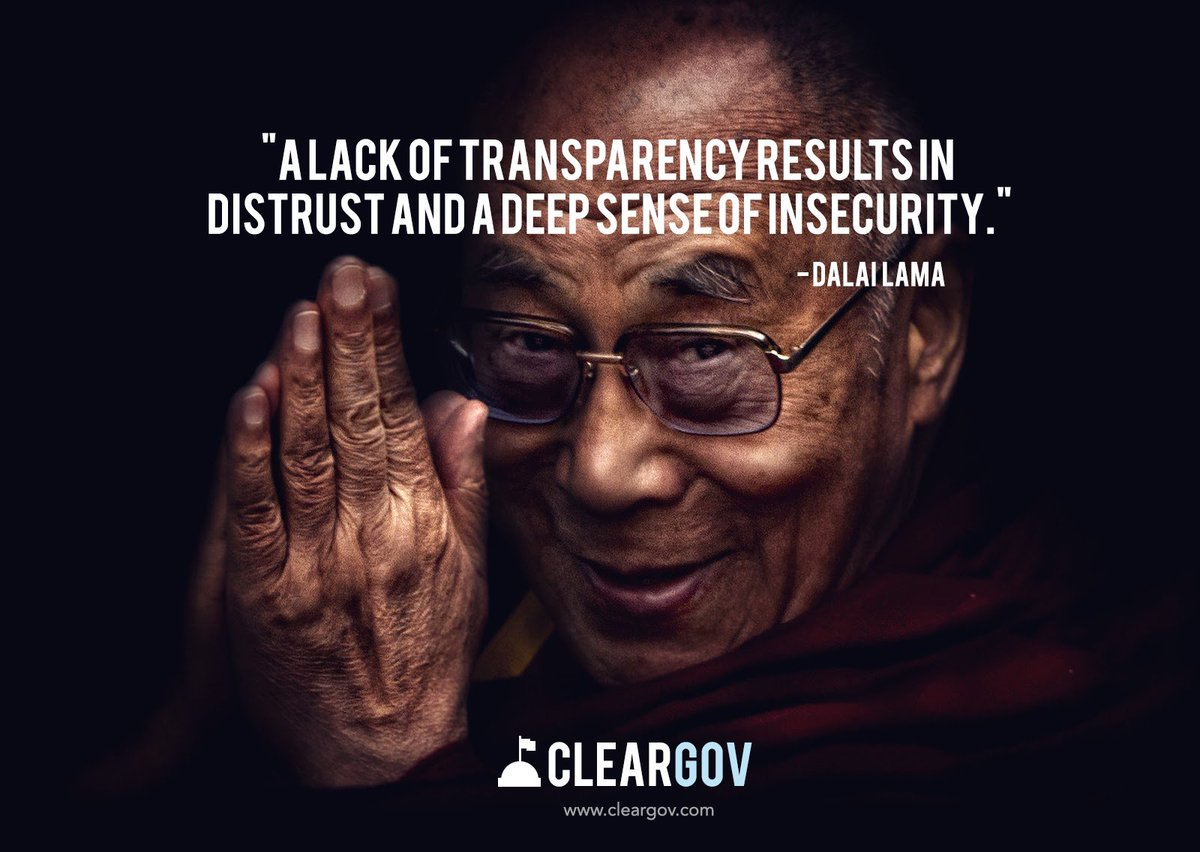 &quot;A lack of transparency results in distrust and a deep sense of insecurity&quot;  http:// bit.ly/1YRim1J  &nbsp;   #transparency #localgov #opendata<br>http://pic.twitter.com/outEr5L24p