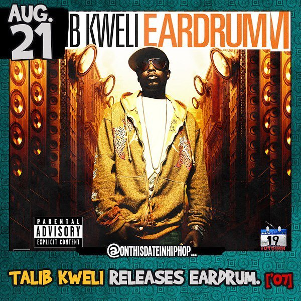 #OnThisDateInHipHop, @TalibKweli released his 3rd album #Eardrum on #BlacksmithMusic. Led by #HostileGospelPt1, #H…  http:// ift.tt/2viFBd8  &nbsp;  <br>http://pic.twitter.com/ieThYbn20p