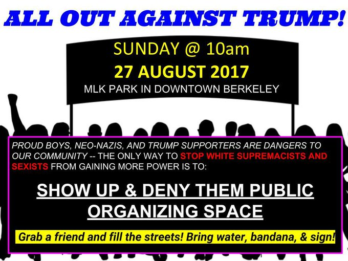 All Out Against Trump @ Civic Center Park (MLK Park) | Berkeley | California | United States