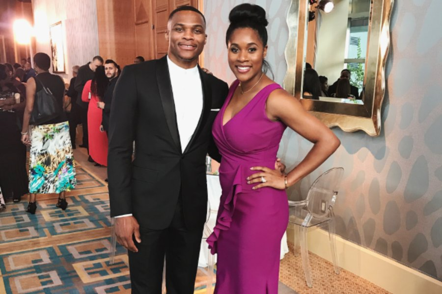 Cute couple Russell and Nina Westbrook get all dressed up for a wedding date night: https://t.co/2eDH6Tr4nl