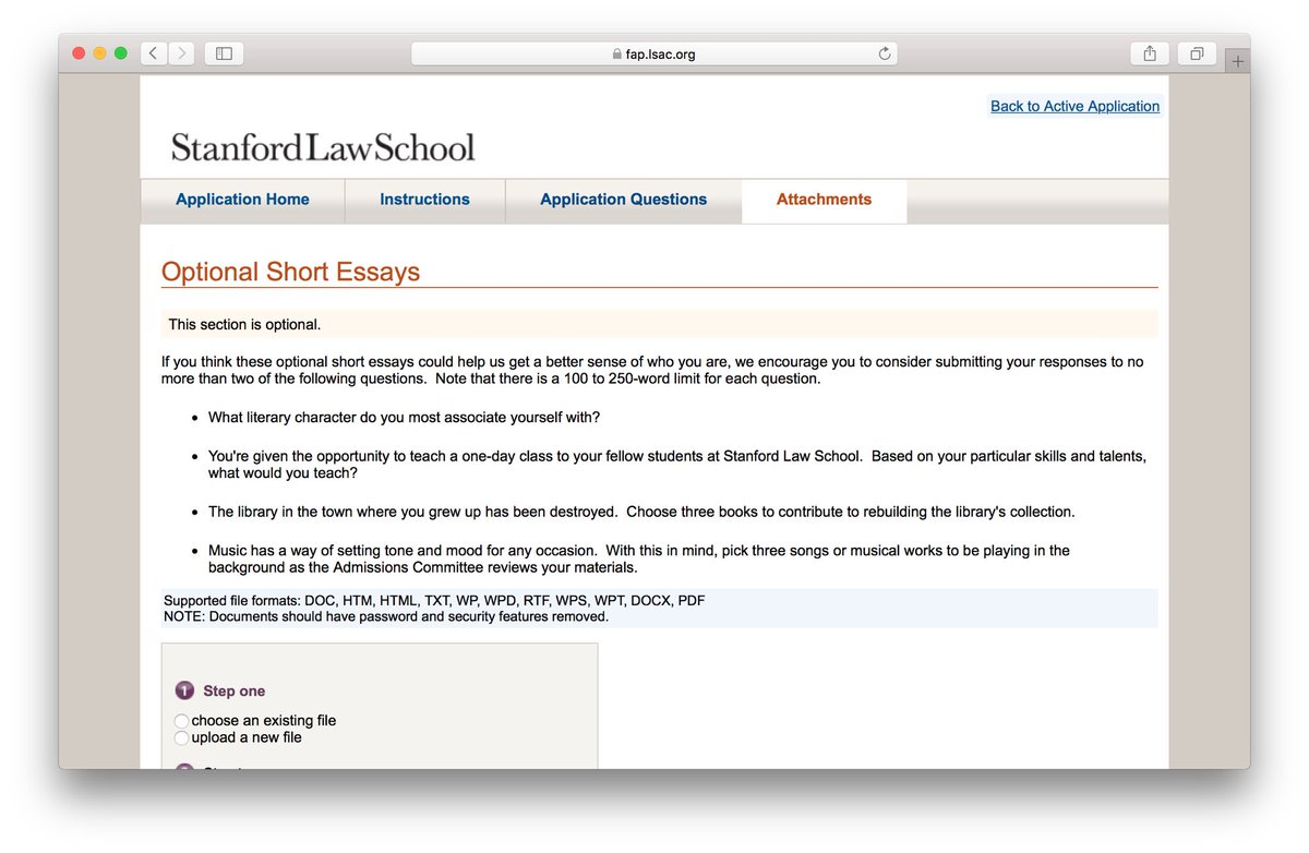 spivey consulting on stanford law school has added  spivey consulting on stanford law school has added optional essays this year has been a growing trend for schools to do so