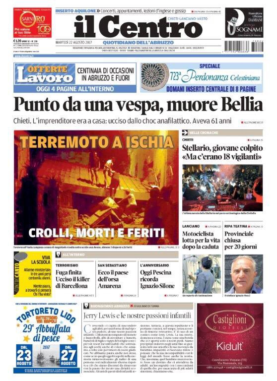 #Buongiorno #Abruzzo con la #primapagina...