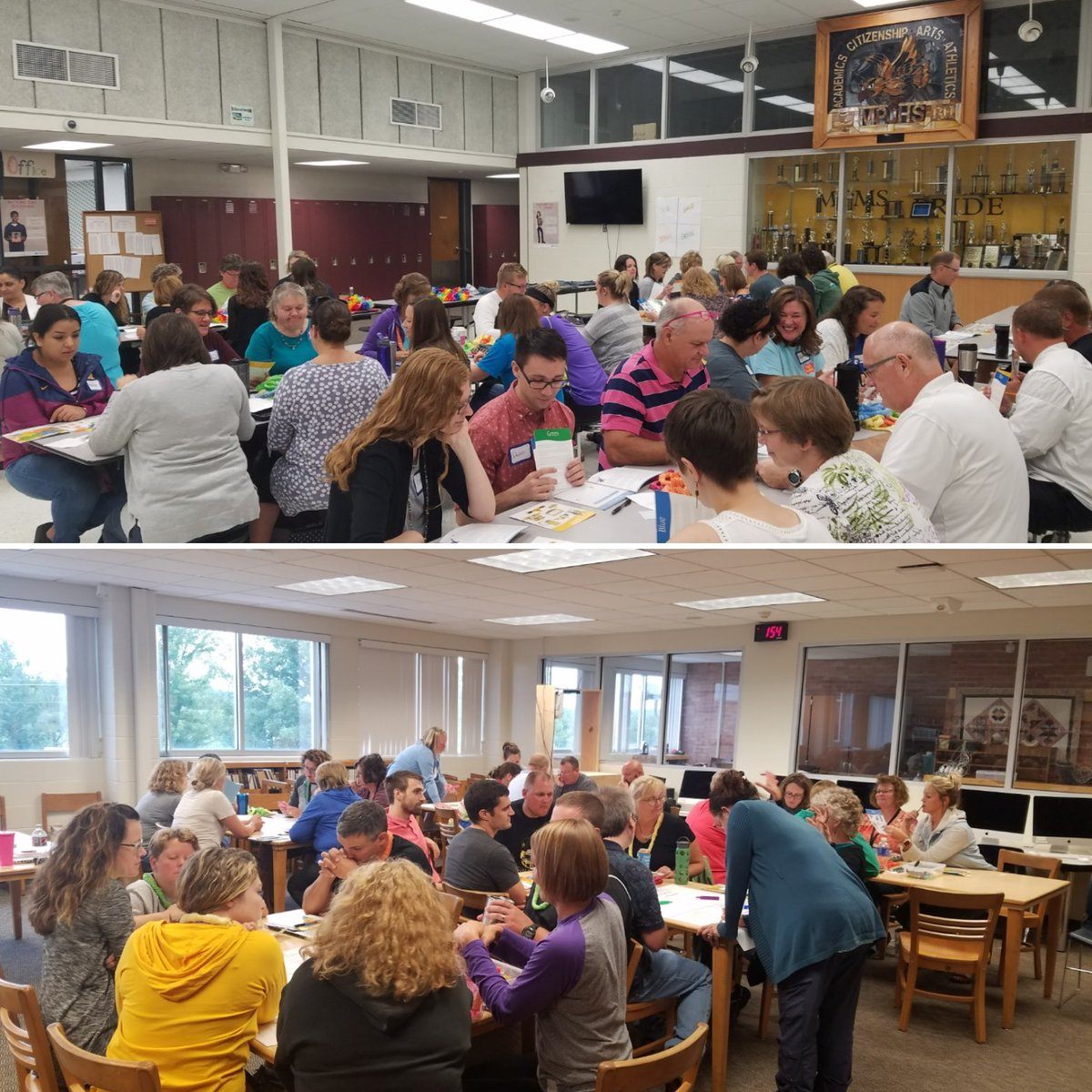 It was a great day working with #mphawks Middle School teachers and High School teachers and sharing our #real colors! <br>http://pic.twitter.com/y3xG5eT4ri