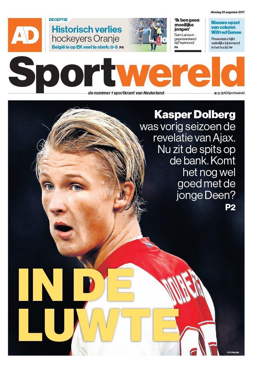 AD Sportwereld. August 22. #frontpage #p...