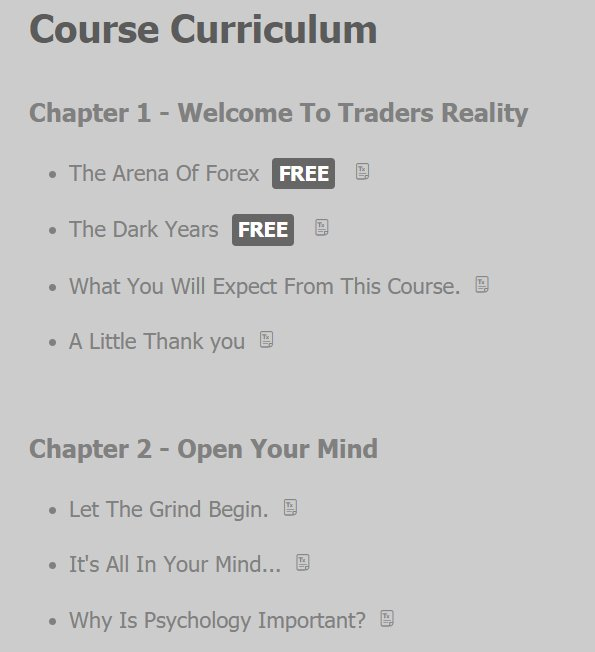 Snapshot Of Traders Reality Course Curriculum #course #author #tradersreality #forex<br>http://pic.twitter.com/c2FKkCewZR