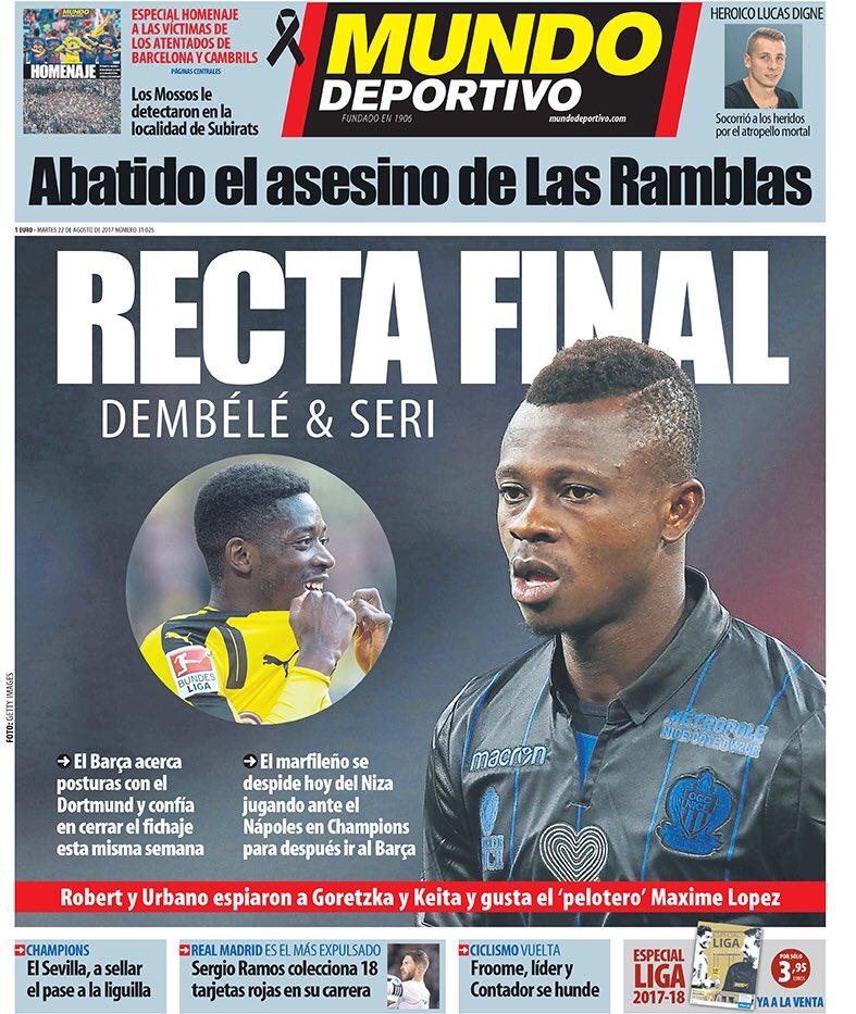 Mundo Deportivo. August 22. #frontpage #...