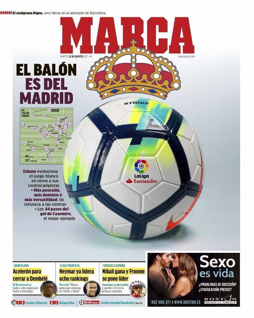 Marca. August 22. #frontpage #primapagin...