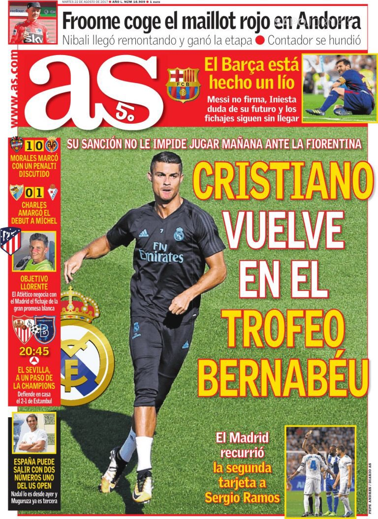 AS. August 22. #frontpage #primapagina #...