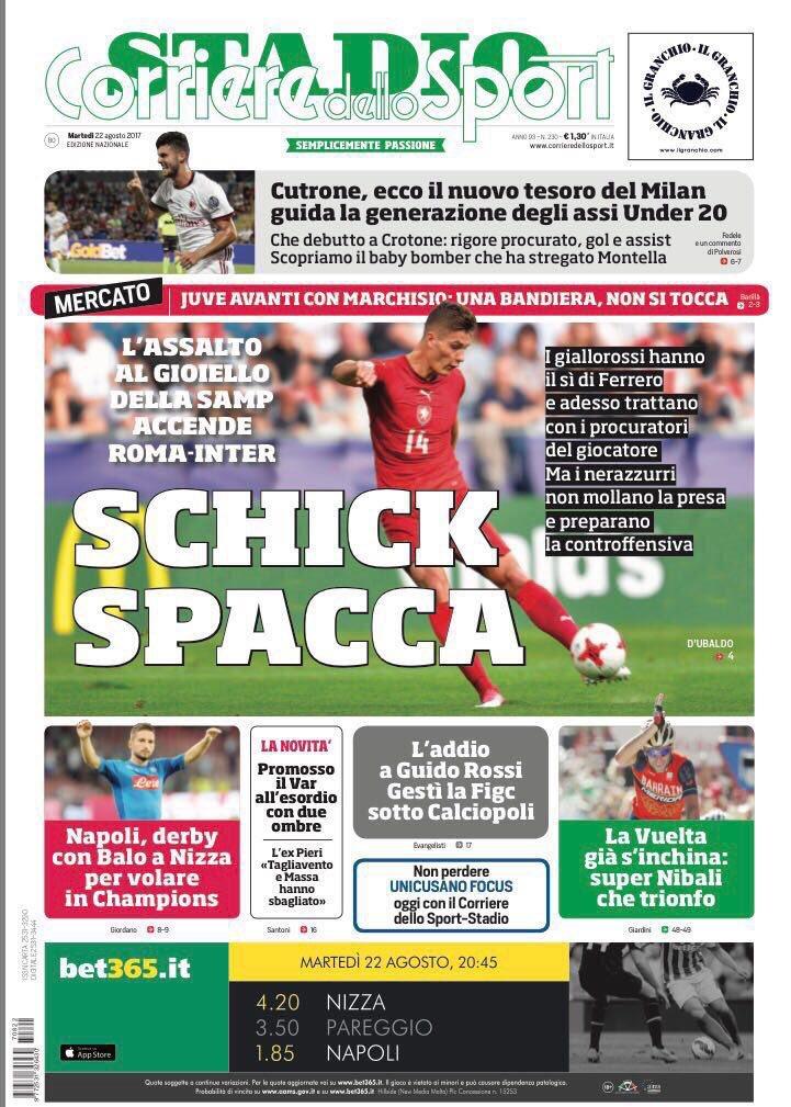 Corriere dello Sport. August 22. #frontp...