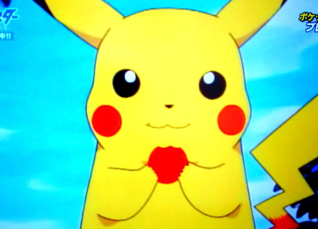 """カラメロ@すず? on twitter: """"やっぱりアニメ初期のピカチュウは可愛"""